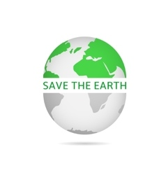 Save the earth vector image