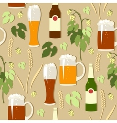 Seamless dark and light beer vector
