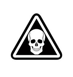 Skull warning sign vector