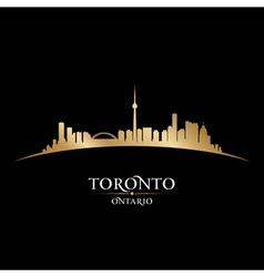 Toronto Ontario Canada city skyline silhouette vector image vector image
