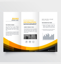 trifold business brochure flyer leaflet design vector image