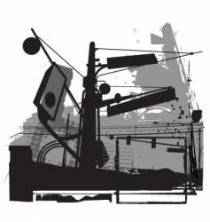 urban grunge street scene vector image vector image