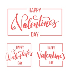 Valentines day lettering for greeting card vector image vector image