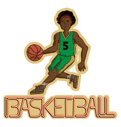 vintage basketball player vector image