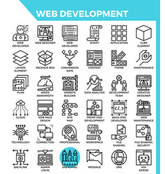 Web development icons vector