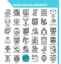 Web development icons vector