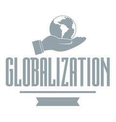 web globalization logo simple gray style vector image