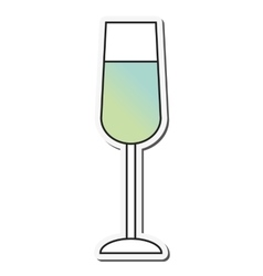 Cocktail alcohol drink design vector