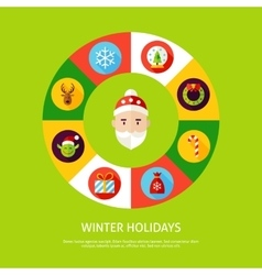 Winter holidays infographic concept vector