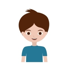 Half body young boy with t-shirt vector