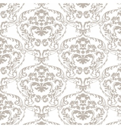 Baroque damask delicate ornament pattern vector