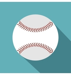 Softball ball icon flat style vector