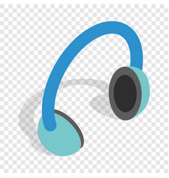 headphones isometric icon vector image