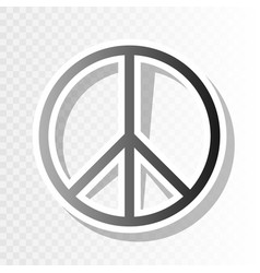 Peace sign   new year blackish vector