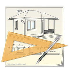 House blueprint vector