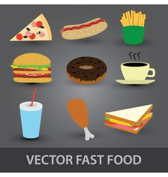 Color fast food icons eps10 vector
