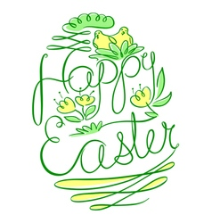 Easter lettering composition vector image
