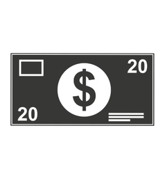 Dollar bill isolated icon design vector