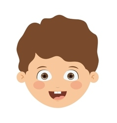 Front head boy isolated icon design vector