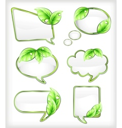 Banners with leaf vector image