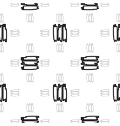 black short strips on white vector image vector image