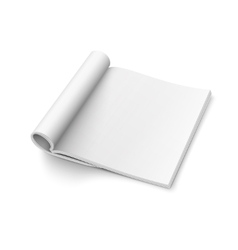 Blank open magazine template square format vector image