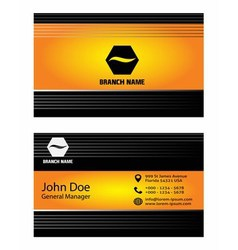 Business cards elements for design vector