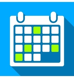 Calendar appointment flat long shadow square icon vector