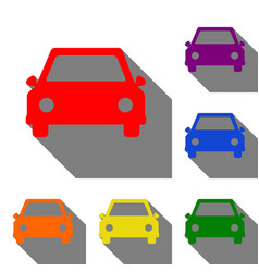 car sign set of red orange yellow vector image