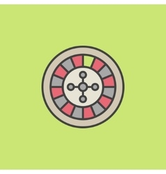 Colorful roulette wheel icon vector