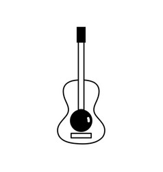 Contour guitar acoustic intrument of music player vector