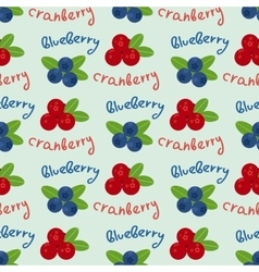 Cranberry and blueberry seamless pattern 6 vector