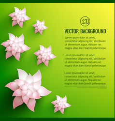 Decorative flowers background vector