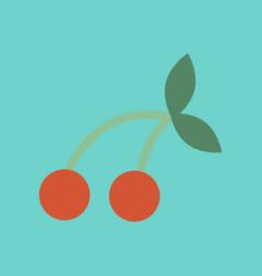 Flat icon on stylish background cherry fruit vector