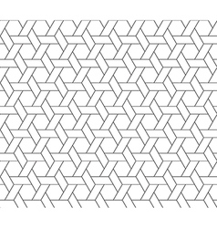 Hexagon star seamless pattern vector