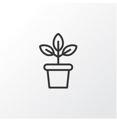 plant pot icon symbol premium quality isolated vector image