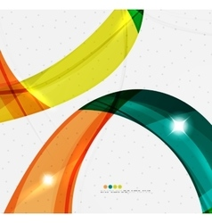 Smooth wave line abstract background vector image