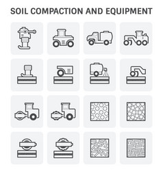 soil compaction icon vector image