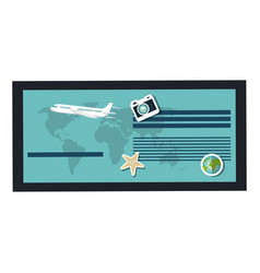 tourism agency flyer icon vector image