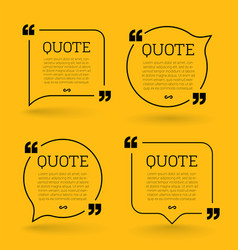 Trendy block quote modern design elements creative vector