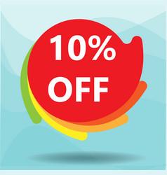 10 off sale discount banner vector image