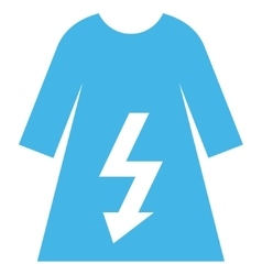 Electric woman dress eps icon vector
