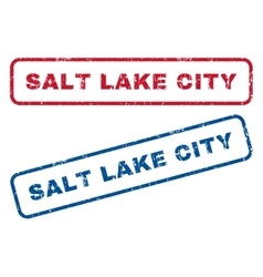 Salt lake city rubber stamps vector