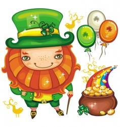St Patrick's Day symbols vector image