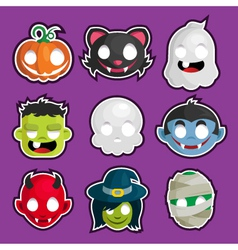 Halloween Head Stickers vector image