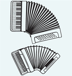 Music instruments Accordion vector image