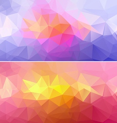Polygon paper backgrounds 01 vector