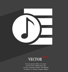 Audio mp3 fileicon symbol flat modern web design vector