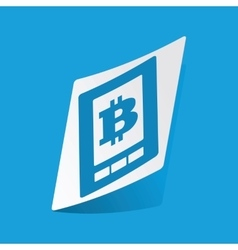 Bitcoin on screen sticker vector