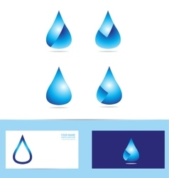 Water rain drop logo icon vector